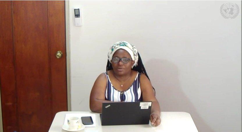 Intervención Clemencia Carabalí Rodallega ante reunión del Consejo de Seguridad de Naciones Unidas