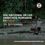 9 de septiembre, Día Nacional de los Derechos Humanos en Colombia.